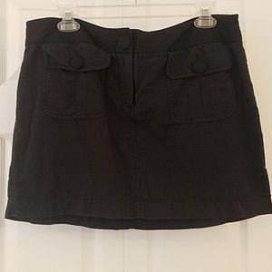 Black & Gray Striped Skirt